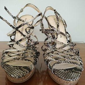 Marc fisher snakeskin strappy heels! 9